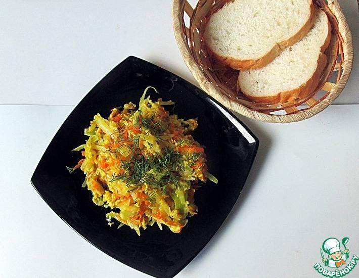 Омлет с цветной капустой и кабачками - 5 пошаговых фото в рецепте