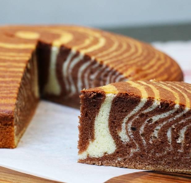 """Домашний торт """"Зебра"""""""