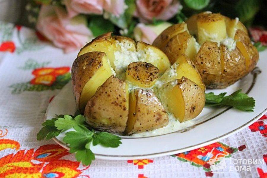 Как приготовить печеный картофель с селедочным соусом? пошаговый рецепт с фото.