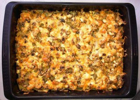 Картошка в духовке с грибами и баклажанами рецепт