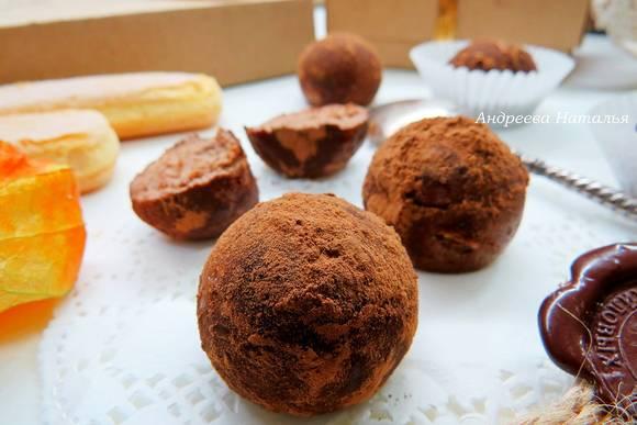 Домашние трюфели без выпечки из печенья «Орео»