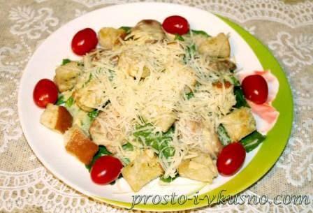 Особенности приготовления салата «цезарь» с курицей