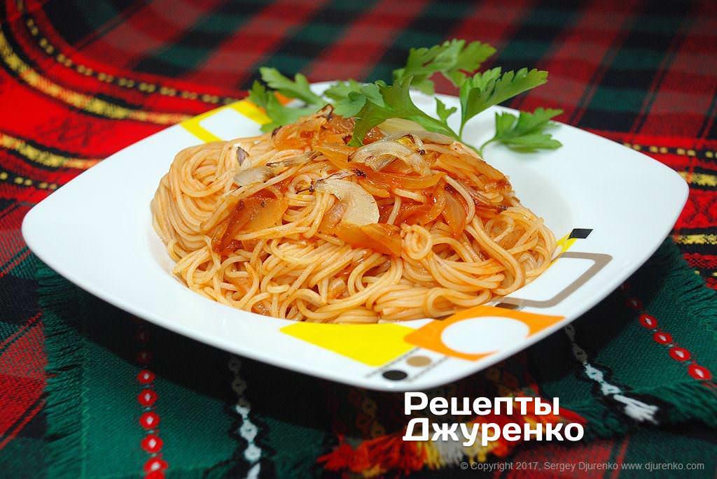 Паста с соусом из помидоров черри и базилика