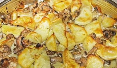 Рецепты блюд из картофеля с белыми грибами: жареные, тушенные, запеченные в горшочках и мультиварке
