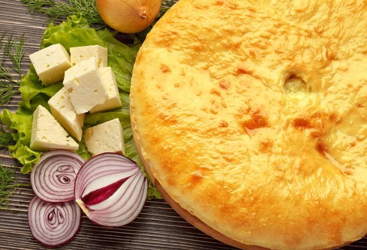 Пирожки на рассоле с картофелем и шпинатом