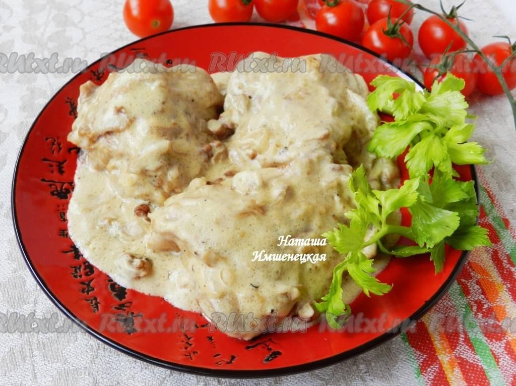 Куриное филе в устричном соусе с овощами