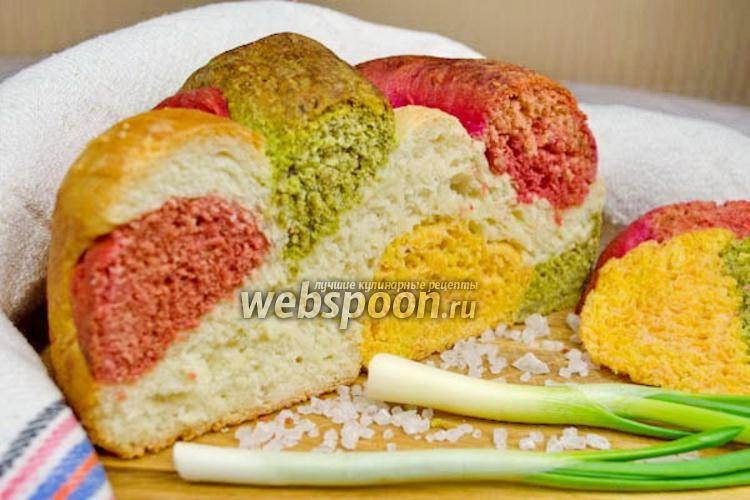Домашний хлеб разноцветный