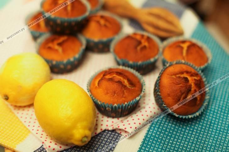 Лимонный кекс с помадкой