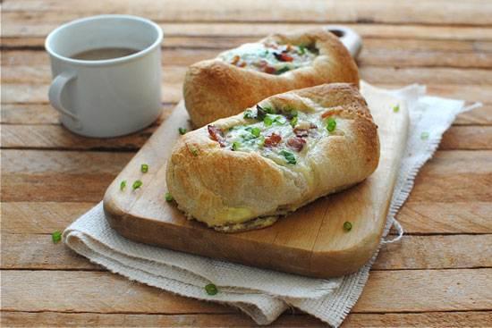 Пресные булочки к завтраку