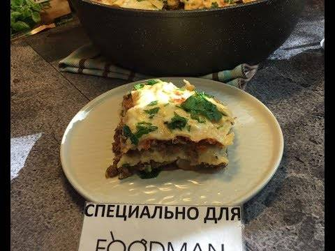Лазанья на сковороде рецепт с фото