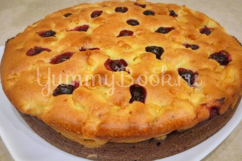 Рецепт песочного пирога с вишней - 8 пошаговых фото в рецепте