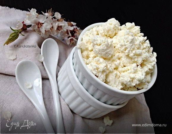 Творог из коровьего молока в домашних условиях - 8 пошаговых фото в рецепте