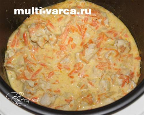Курица в сливочно-чесночном соусе в мультиварке - рецепт для мультиварки - patee. рецепты