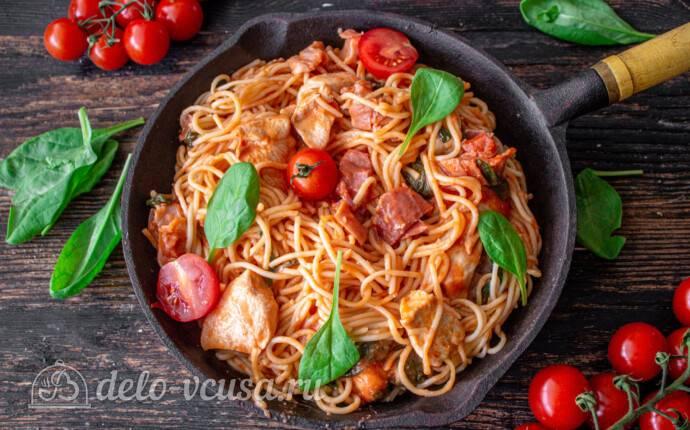 Паста с курицей в сливочном или в томатном соусе – рецепты итальянской пасты альфредо, карбонара и по-тоскански