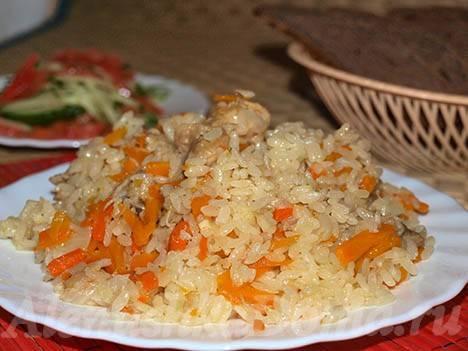 Вкусный плов из курицы рецепт с фото
