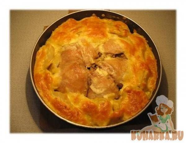 Куриные бёдрышки, запечённые с картофелем - 5 пошаговых фото в рецепте
