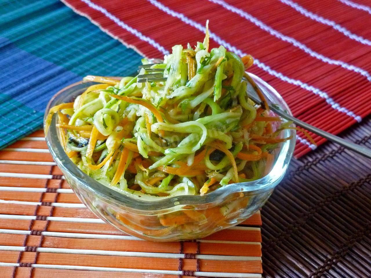 Кабачки и морковь по-корейски быстрого приготовления