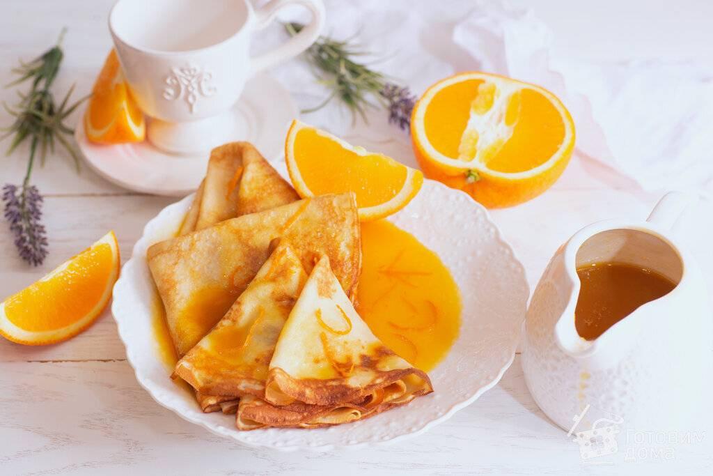 Блинчики «сюзетт» с апельсиновым соусом