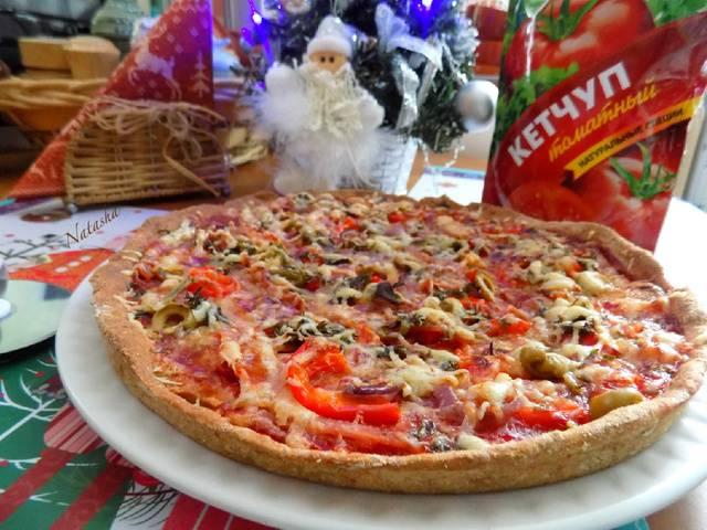 Блинный пирог-пицца