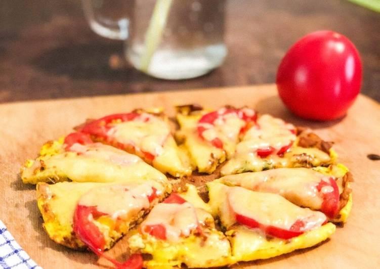 """Оладьи """"мини-пицца"""" на кефире на сковороде - 11 пошаговых фото в рецепте"""