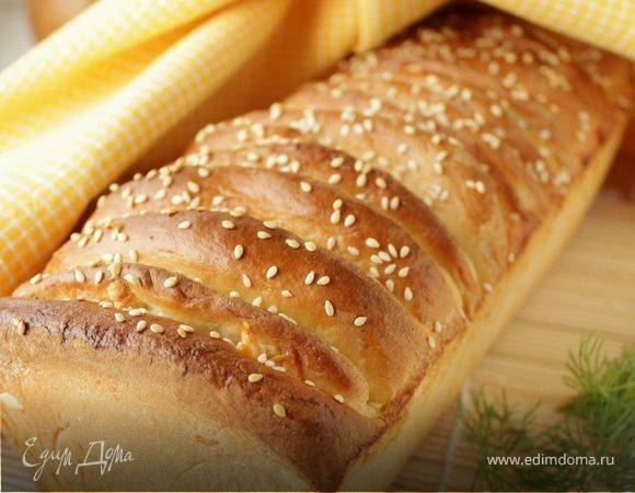 Домашний хлеб с петрушкой и сыром