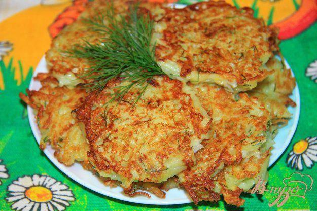 Картофельные драники с зеленью рецепт