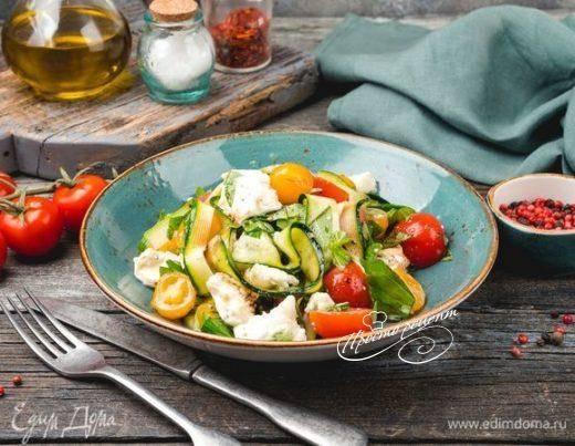 Итальянский салат с моцареллой и оливками - 7 пошаговых фото в рецепте