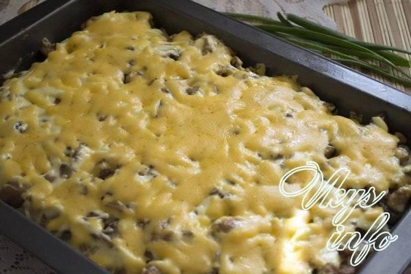 Картофельная запеканка с грибами - оригинальные рецепты вкусного блюда в духовке и в мультиварке