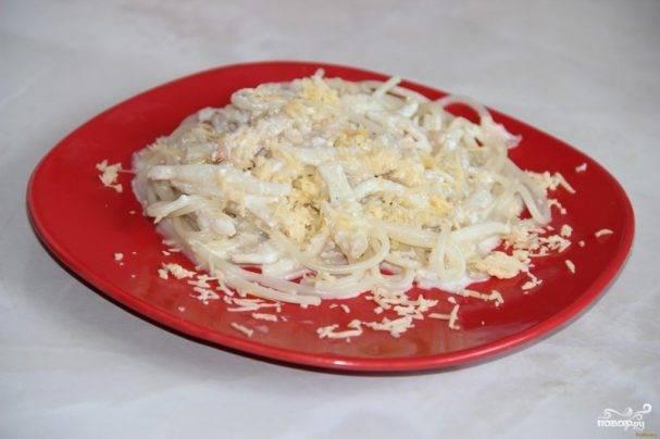Пошаговый рецепт приготовления пасты с кальмарами