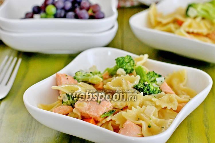Фарфалле в сливочном соусе. пошаговый рецепт с фото