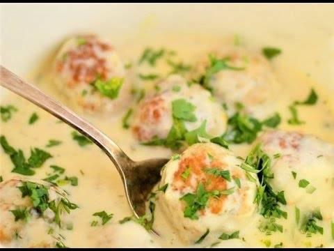 Фрикадельки в сливочно-сырном соусе рецепт с фото