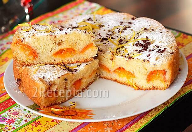 Пирог с абрикосами - простой рецепт из дрожжевого, песочного, заливного и постного теста