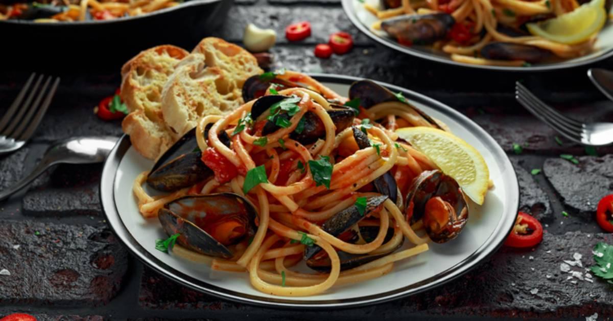 Паста с морепродуктами в сливочном соусе по-итальянски. рецепты с фото