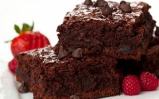 Быстрый пирог «Брауни» всего из 4-х ингредиентов