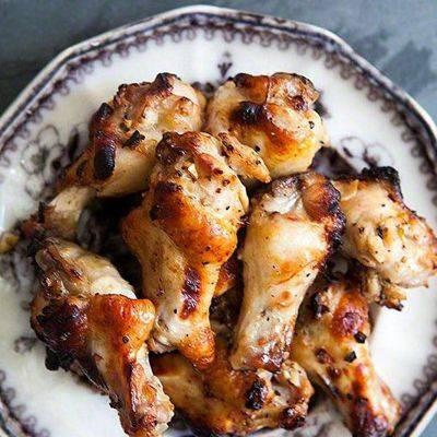 Куриные крылья со сливочным картофелем