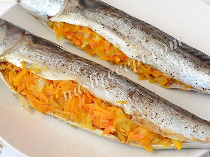 Скумбрия, фаршированная яйцами и сыром, в фольге - 11 пошаговых фото в рецепте