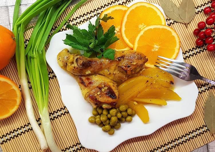 Ароматная апельсиновая курица