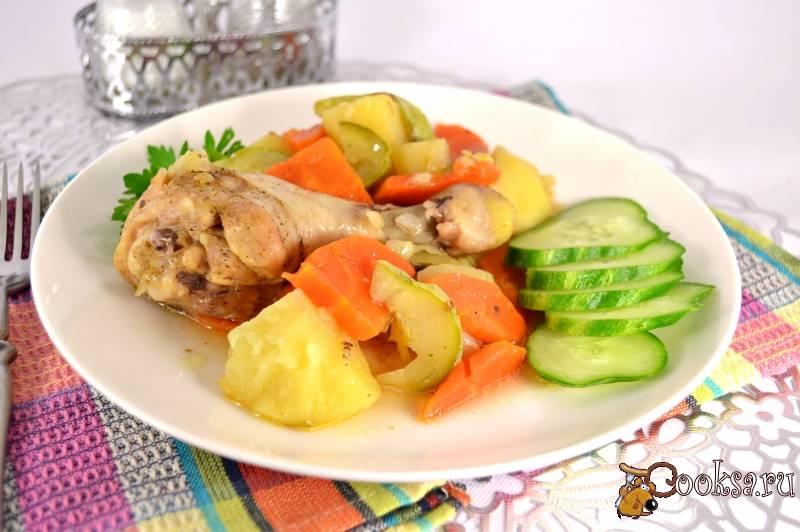 Куриные голени с овощами в духовке - 15 пошаговых фото в рецепте