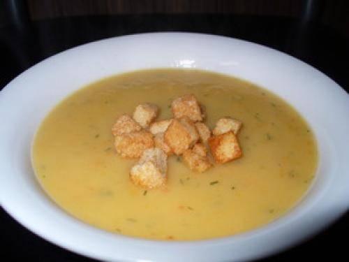 Картофельный суп пюре: рецепт с курицей, грибами, беконом и соевым соусом