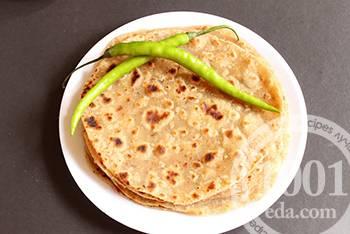Наан индийская лепешка с чесноком