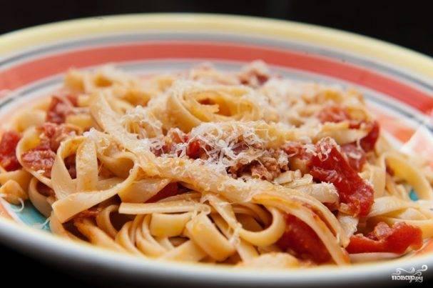 Рецепты паста с ветчиной