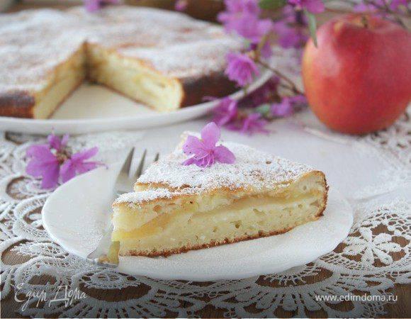Яблочно-творожный пирог