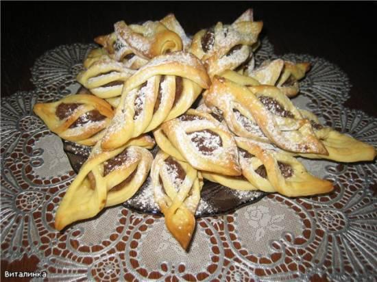 Слоеное печенье: с сахаром, с апельсином и шоколадом