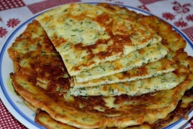 Ленивые сырные лепешки