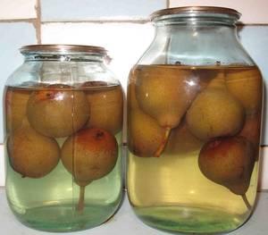 Домашний компот на зиму из груш и яблок