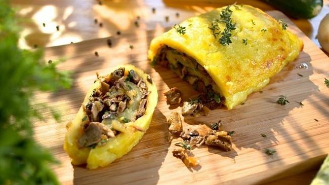 Картофельный рулет с грибами - пошаговый рецепт с фото |  закуски