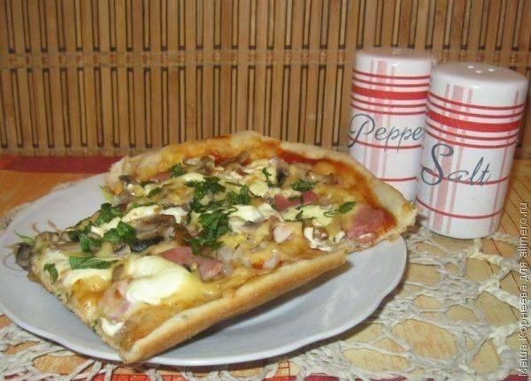 Пицца на дрожжевом тесте за 1 час