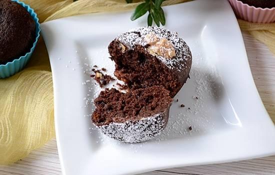 Кекс с шоколадно-манным кремом