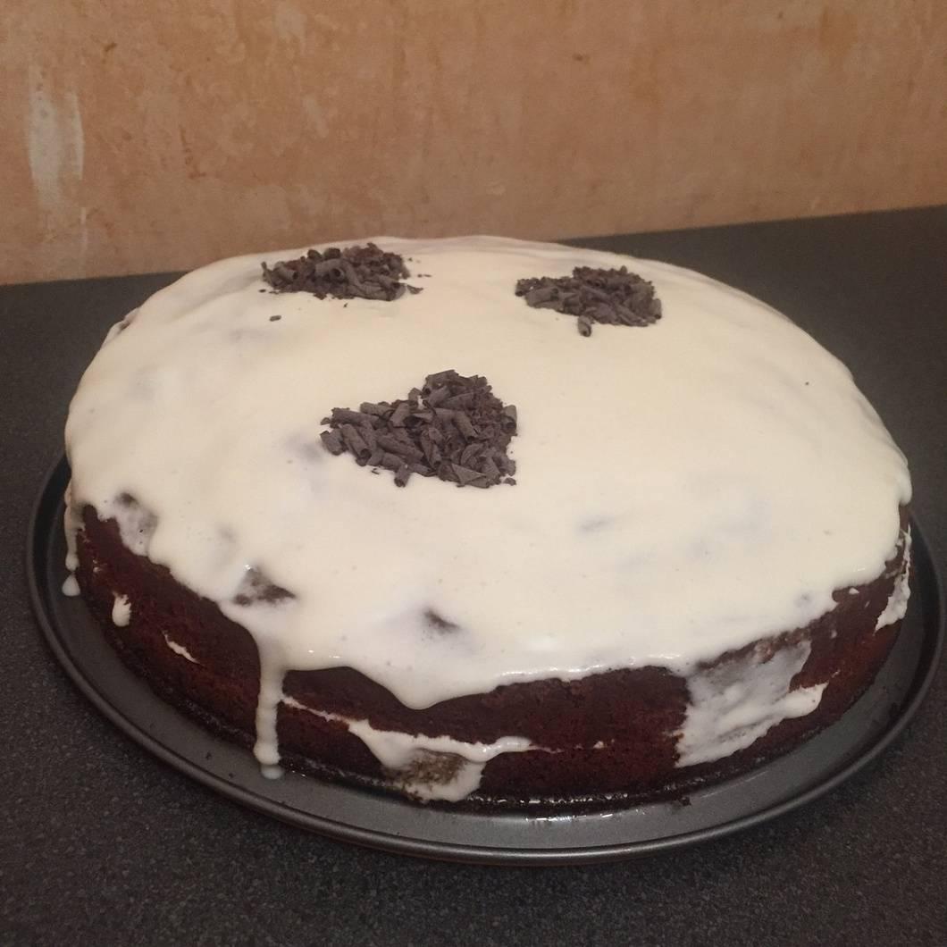 Рецепт торта негр в пене со смородиновым вареньем