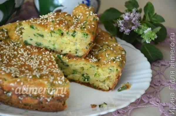 Ленивый пирог с луком и сыром